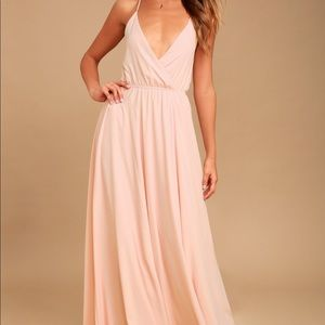 EVERYTHING'S ALL BRIGHT BLUSH PINK BACKLESS MAXI